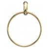 Earhoops Round Gold 25mm